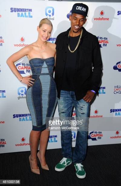 Iggy Azalea and Nick Young attends the Capital Summertime Ball at Wembley Stadium on June 21 2014 in London England