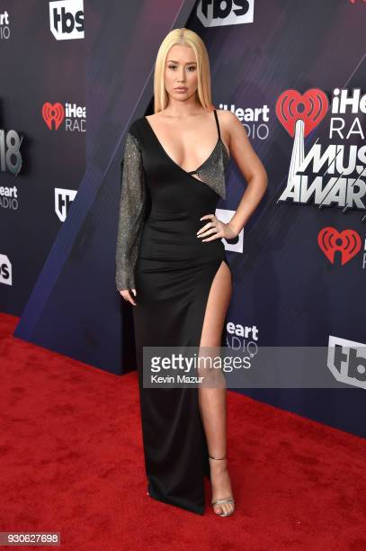 Iggy Azalea arrives at the 2018 iHeartRadio Music Awards which broadcasted live on TBS TNT and truTV at The Forum on March 11 2018 in Inglewood...