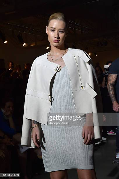 Iggy Azalea attends Calvin Klein Collection Fashion Show during Milan Fashion Week Menswear Spring/Summer 2015 on June 22 2014 in Milan Italy