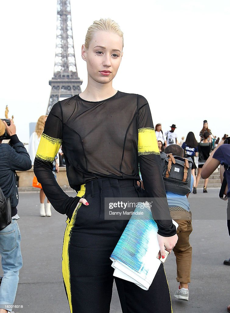 Iggy Azalea attends Maison Martin Margiela show at the Theatre National de Chaillot on September 27, 2013 in Paris, France.
