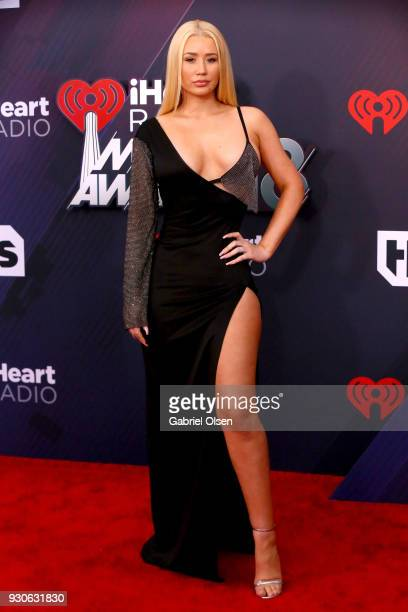 Iggy Azalea attends the 2018 iHeartRadio Music Awards at the Forum on March 11 2018 in Inglewood California
