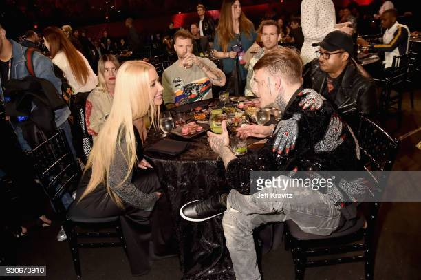Iggy Azalea attends the 2018 iHeartRadio Music Awards which broadcasted live on TBS TNT and truTV at The Forum on March 11 2018 in Inglewood...