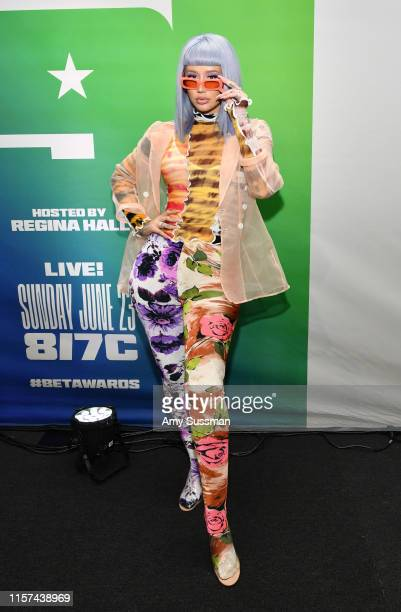 Iggy Azalea attends the BET Awards 2019 Radio Broadcast Center at Microsoft Theater on June 21, 2019 in Los Angeles, California.