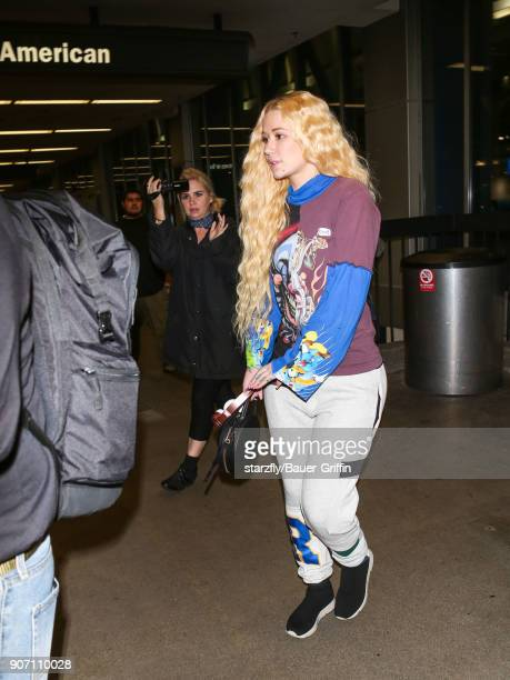 Iggy Azalea is seen at Los Angeles International Airport on January 19 2018 in Los Angeles California