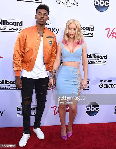 Iggy Azalea Nick and Young arrives at the 2015 Billboard Music Awards at MGM Garden Arena on May 17 2015 in Las Vegas Nevada