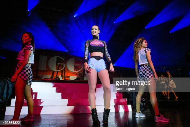 Iggy Azalea performs at Meadow Brook Amphitheatre on September 12 2014 in Rochester Michigan
