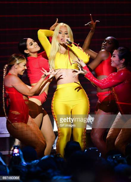 Iggy Azalea performs at the 2017 iHeartRADIO MuchMusic Video Awards at MuchMusic HQ on June 18 2017 in Toronto Canada