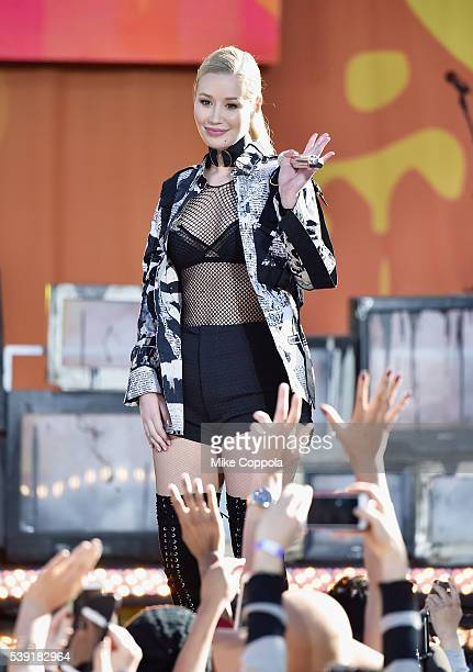 Iggy Azalea performs on ABC's Good Morning America at Rumsey Playfield Central Park on June 10 2016 in New York City