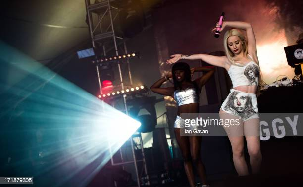 Iggy Azalea performs on the Sonic Stage during day 3 of the 2013 Glastonbury Festival at Worthy Farm on June 29 2013 in Glastonbury England