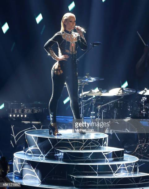 Iggy Azalea performs onstage during the 2014 MTV Video Music Awards held at The Forum on August 24 2014 in Inglewood California