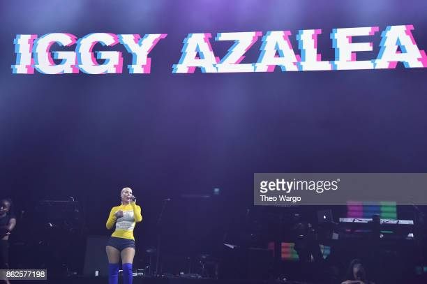 Iggy Azalea performs onstage during TIDAL X Brooklyn at Barclays Center of Brooklyn on October 17 2017 in New York City