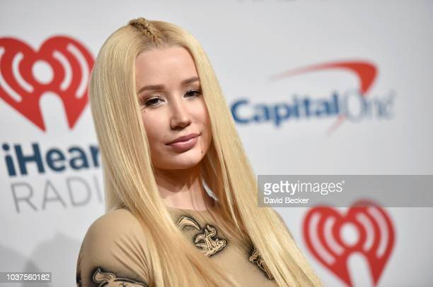 Iggy Azalea poses in the press room during the iHeartRadio Music Festival at TMobile Arena on September 21 2018 in Las Vegas Nevada