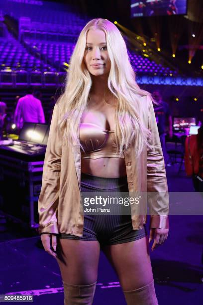 Iggy Azalea rehearses during Univision's 'Premios Juventud' 2017 Celebrates The Hottest Musical Artists And Young Latinos ChangeMakers Day 3...