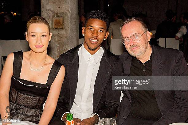 Iggy Azeala Nick Young and Jim Moore attend a celebration for Italo Zucchelli's Spring 2015 Men's runway show with an intimate dinner during Milan...