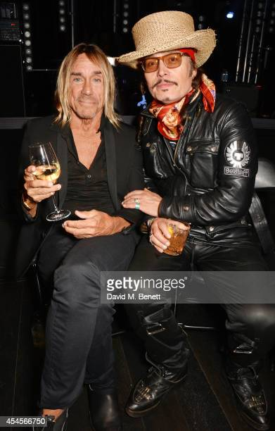 Iggy Pop and Adam Ant attend as John Varvatos launch their first European store in London on September 3 2014 in London England