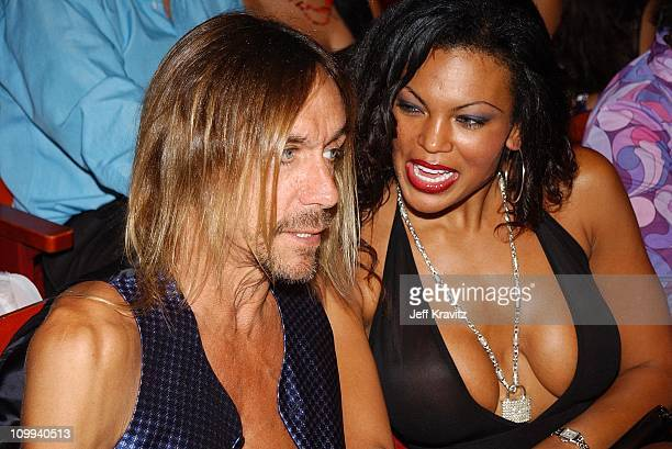 Iggy Pop and guest during MTV Video Music Awards Latinoamerica 2002 at Jackie Gleason Theater in Miami FL United States