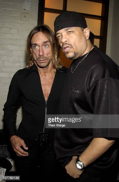 Iggy Pop and IceT during Iggy Pop Record Release Party for 'Skull Ring' at Trust Lounge in New York City New York United States