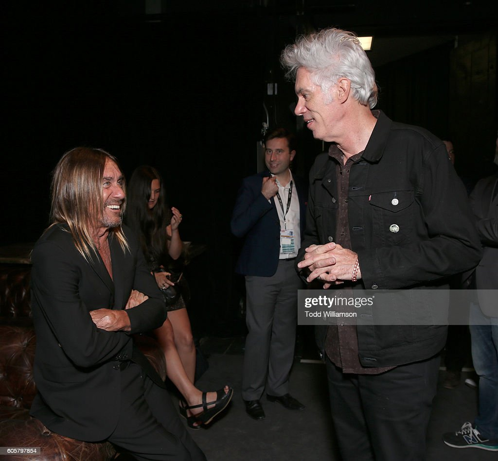 Iggy Pop and Jim Jarmusch attend the Premiere of Amazon Studios' 'Gimme Danger' at the Toronto International Film Festival at Ryerson Theatre on September 14, 2016 in Toronto, Canada.