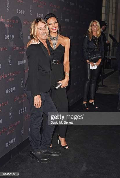 Iggy Pop and Nina Alu attend as John Varvatos launch their first European store in London on September 3 2014 in London England