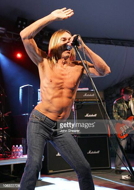 Iggy Pop and Ron Asheton of The Stooges during 21st Annual SXSW Film and Music Festival The Stooges at Stubbs at Stubb's in Austin Texas United States