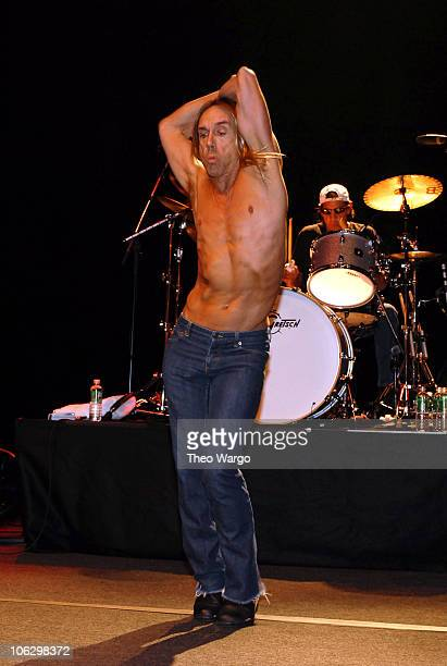 Iggy Pop and Scott Asheton of The Stooges during Iggy Pop and The Stooges Perform at United Palace Theatre in New York City at United Palace Theatre...