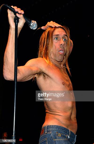 Iggy Pop and The Stooges during Iggy Pop and The Stooges Perform at United Palace Theatre in New York City at United Palace Theatre in New York City...