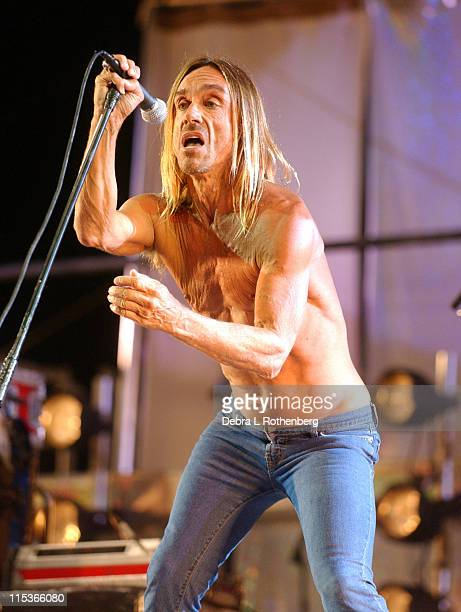 Iggy Pop and The Stooges during Little Steven's Underground Garage Festival Presented by Dunkin' Donuts Show August 14 2004 at Randall's Island in...