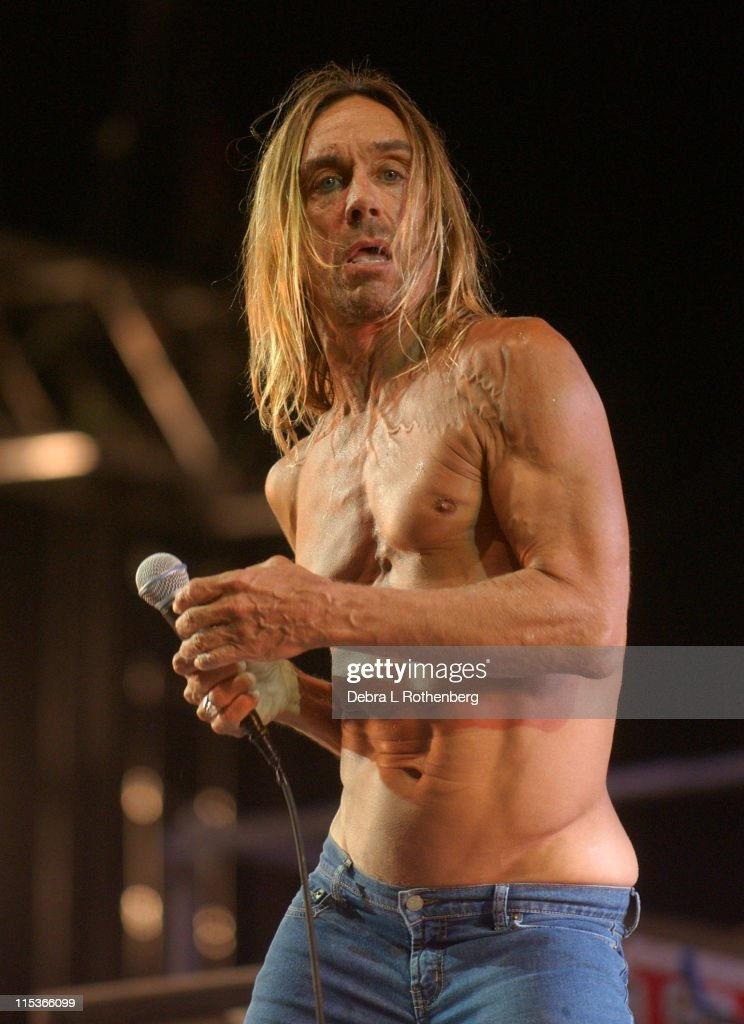 Iggy Pop and The Stooges during Little Steven's Underground Garage Festival Presented by Dunkin' Donuts - Show - August 14, 2004 at Randall's Island in New York City, New York, United States.