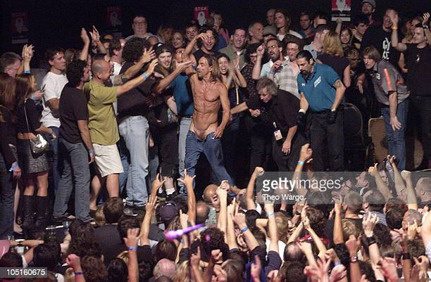 Iggy Pop and The Stooges during MTV2 and Lifebeat PreVMA Benefit Concert with Iggy Pop and The Stooges in New York City New York United States