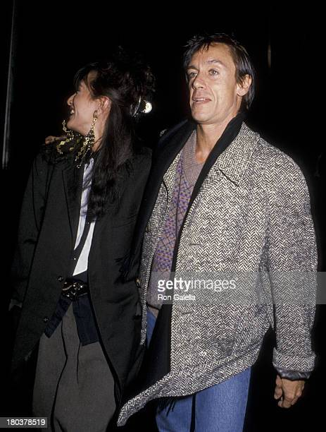Iggy Pop and wife Suchi Asano attend Bob Dylan Party on November 13 1985 at the Whintey Museum in New York City