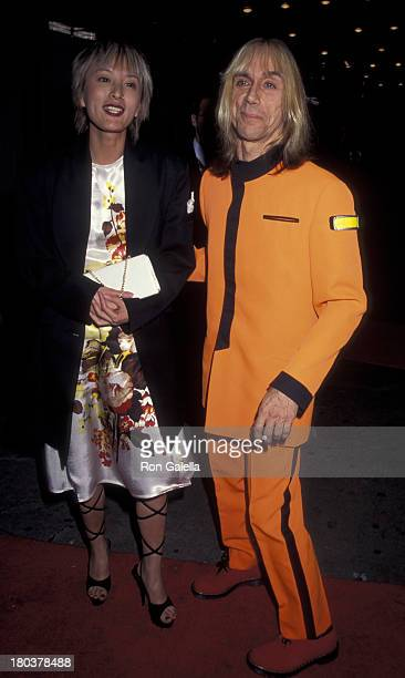 Iggy Pop and wife Suchi Asano attend Sixth Annual New York Shakespeare Festival on September 18 1995 at the Manhattan Center in New York City