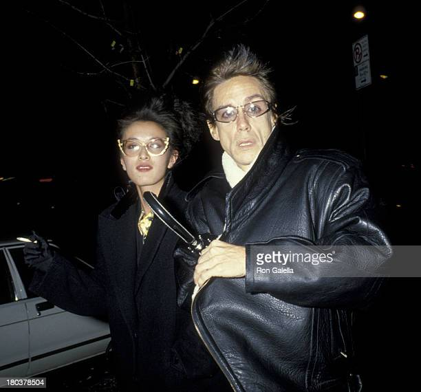 Iggy Pop and wife Suchi Asano attend Thanksgiving Dinner on November 28 1985 at the China Club in New York City