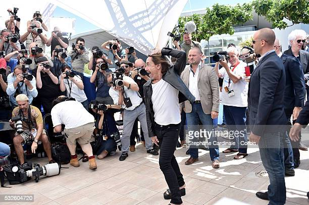 Iggy Pop attends the 'Gimme Danger' photocall during the 69th annual Cannes Film Festival at Palais des Festivals on May 19 2016 in Cannes France