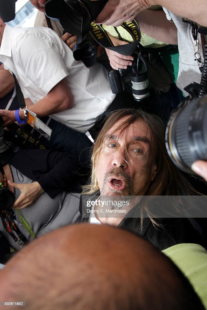 Iggy Pop attends the 'Gimme Danger' photocall during the 69th annual Cannes Film Festival at Palais des Festivals on May 19, 2016 in Cannes, France.