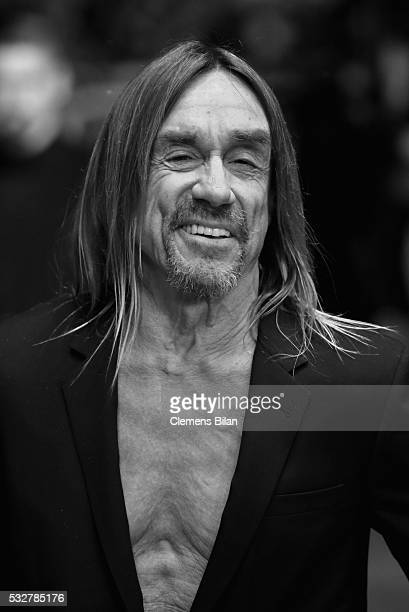 """Iggy Pop attends the """"Gimme Danger"""" Premiere during the 69th annual Cannes Film Festival at the Palais des Festivals on May 19, 2016 in Cannes,..."""