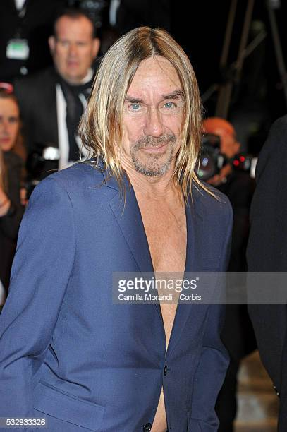 """Iggy Pop attends the """"Gimme Danger"""" red carpet at the annual 69th Cannes Film Festival at Palais des Festivals on May 19, 2016 in Cannes, France."""