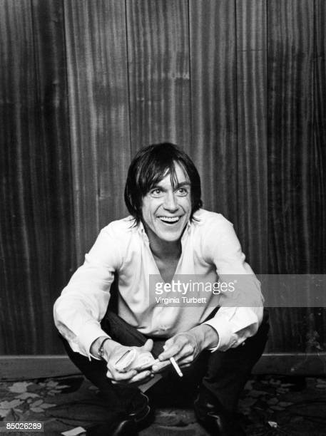Iggy Pop backstage, Aylesbury, UK, 2nd February 1980.