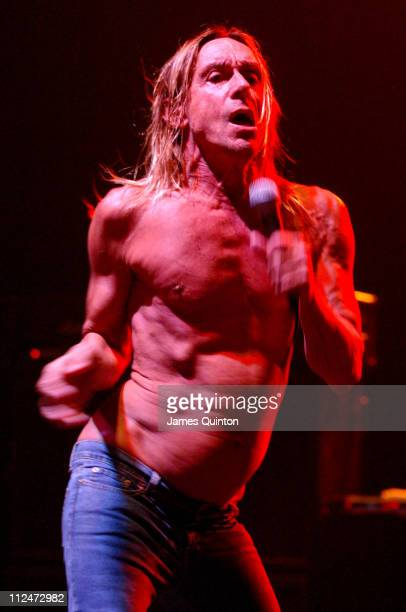 Iggy Pop during Iggy Pop The Stooges In Concert August 30 2005 at Hammersmith Apollo in London Great Britain