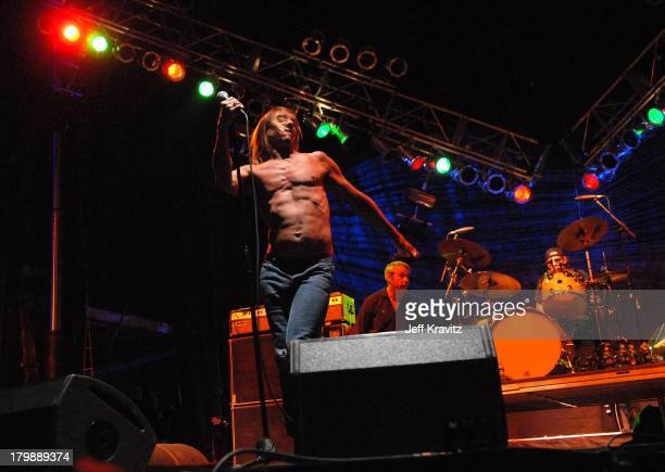 Iggy Pop Mike Watt and Scott Asheton of Iggy and the Stooges perform during the Vegoose Music Festival on October 27 2007 at Sam Boyd Stadium in Las...