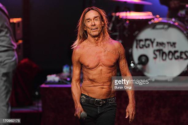 Iggy Pop of Iggy and The Stooges performs on stage at Meltdown Festival 2013 at the Royal Festival Hall on June 20 2013 in London England
