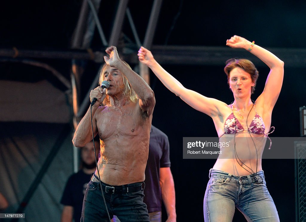 Iggy Pop of Iggy Pop and the Stooges performs on stage during the Festival Cruilla 2012 held at the Forum on July 6, 2012 in Barcelona, Spain.