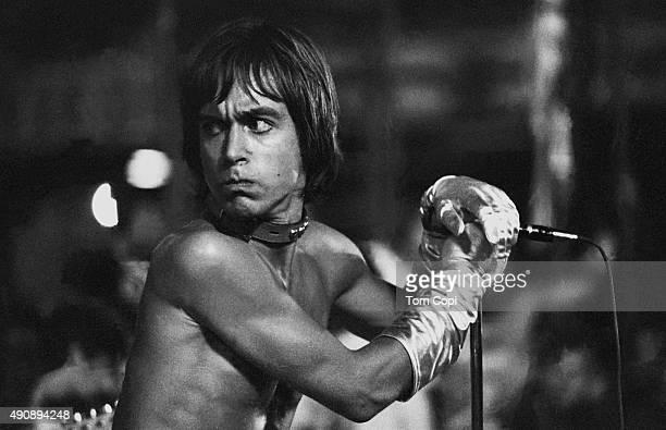 Iggy Pop of the Stooges in concert at Crosley Field on June 23 1970 in Cincinnati Ohio
