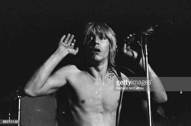Iggy Pop of The Stooges performs live at Bimbo's Club in 1974 in San Francisco California