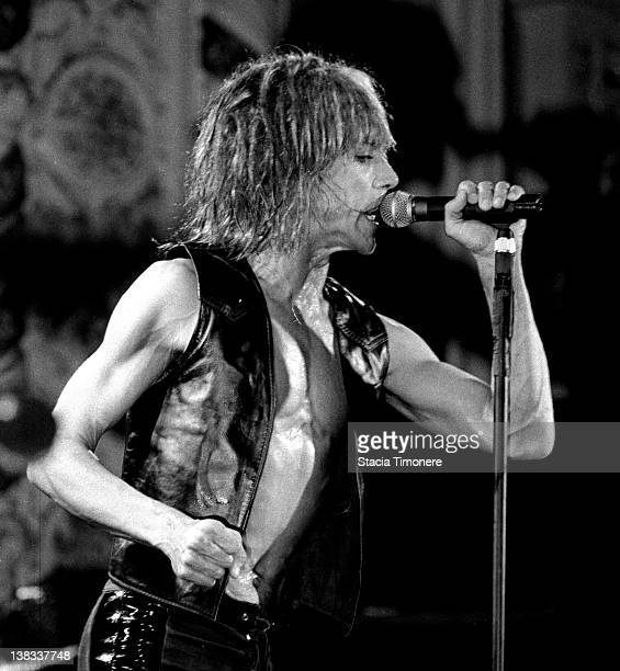 Iggy Pop performing at Cabaret Metro Chicago Illinois USA 12th July 1988