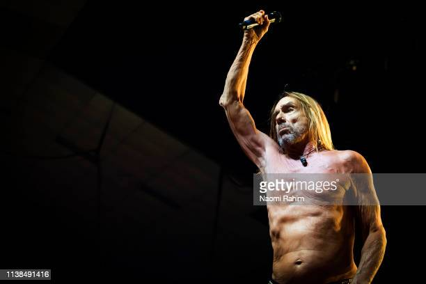 Iggy Pop performs at Festival Hall on his 72nd birthday April 21 2019 in Melbourne Australia