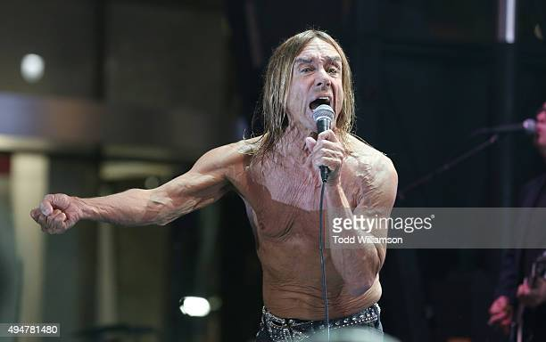 Iggy Pop performs at the after party for the Premiere Of STARZ's 'Ash vs Evil Dead' at Teddy's on October 28 2015 in Hollywood California