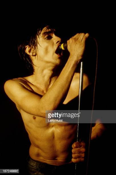 Iggy Pop performs at the Galactic 2000 in Sacramento California on January 1 1982