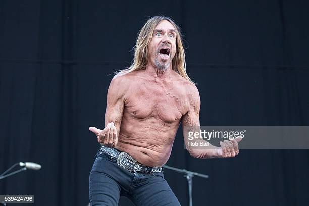 Iggy Pop performs at the Isle Of Wight Festival 2016 at Seaclose Park on June 11, 2016 in Newport, Isle of Wight.