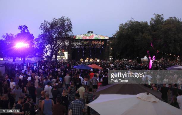 Iggy Pop performs at the Lawn Stage on day 3 of FYF Fest 2017 at Exposition Park on July 23 2017 in Los Angeles California