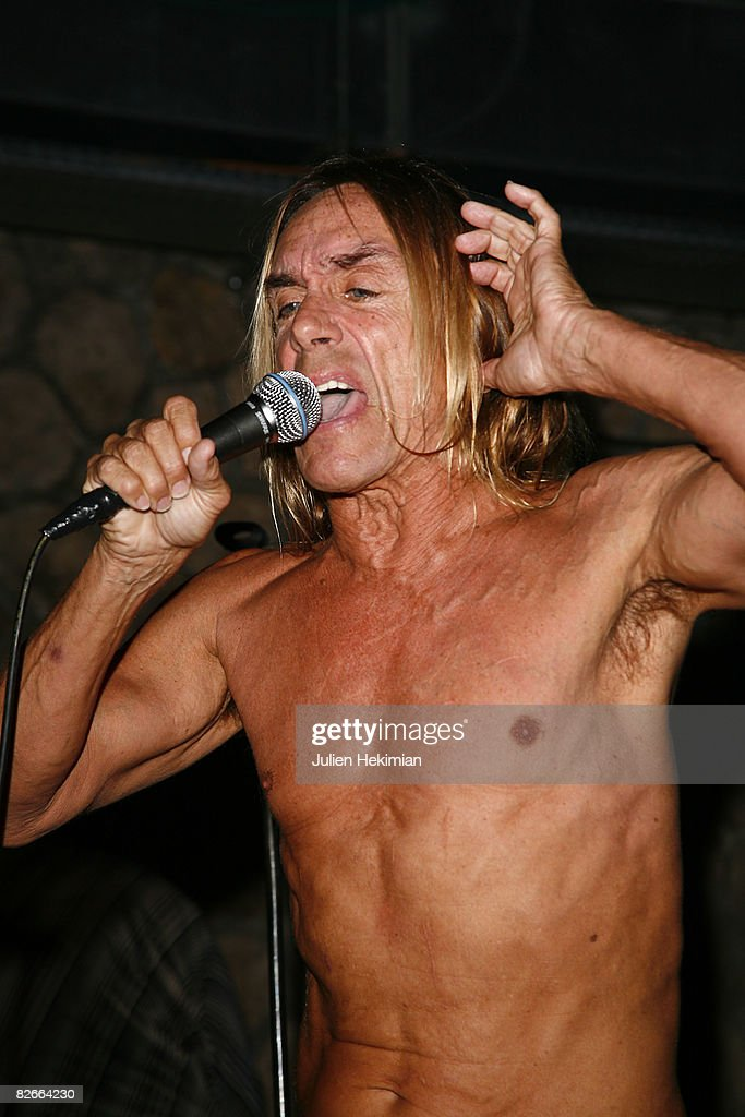 Iggy Pop performs during the 100 Years of Converse Celebration at Showcase on September 4, 2008 in Paris, France.